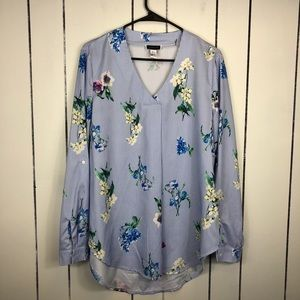 Another Story Floral Print Blouse Sz L